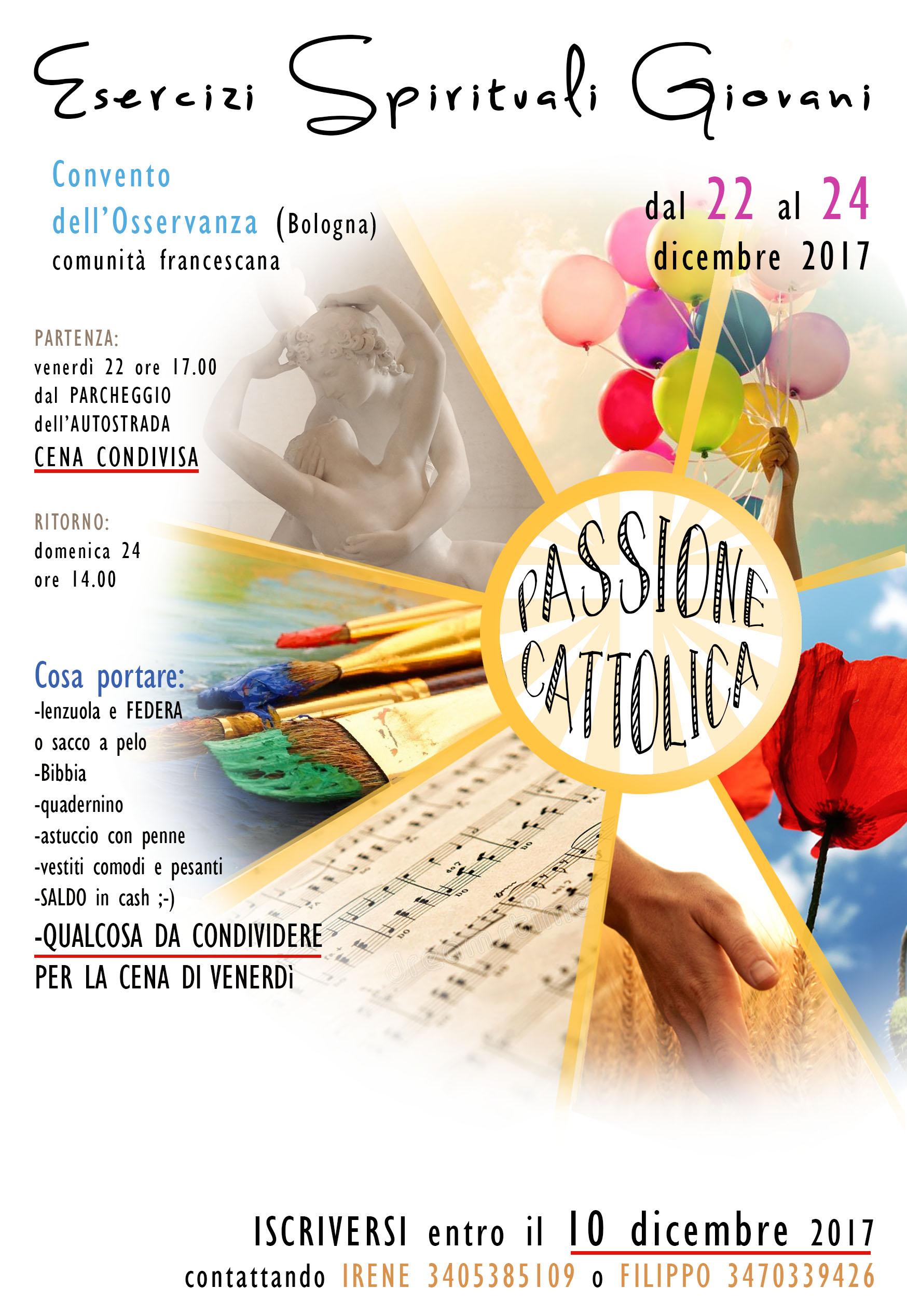 Calendario Esercizi Spirituali 2020.Esercizi Spirituali Giovani 2017 Passione Cattolica